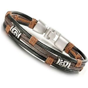 Unisex Handmade Multi-layer Bracelet Faux Leather